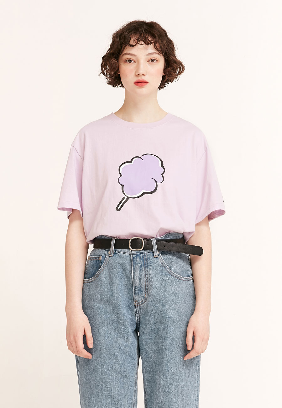 CLOTTYBIG CC T-SHIRT[PURPLE]