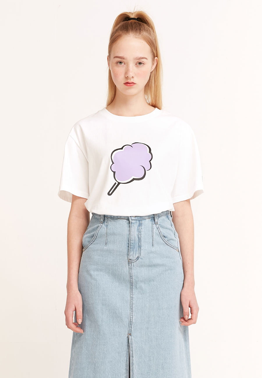 CLOTTYBIG CC T-SHIRT[WHITE]