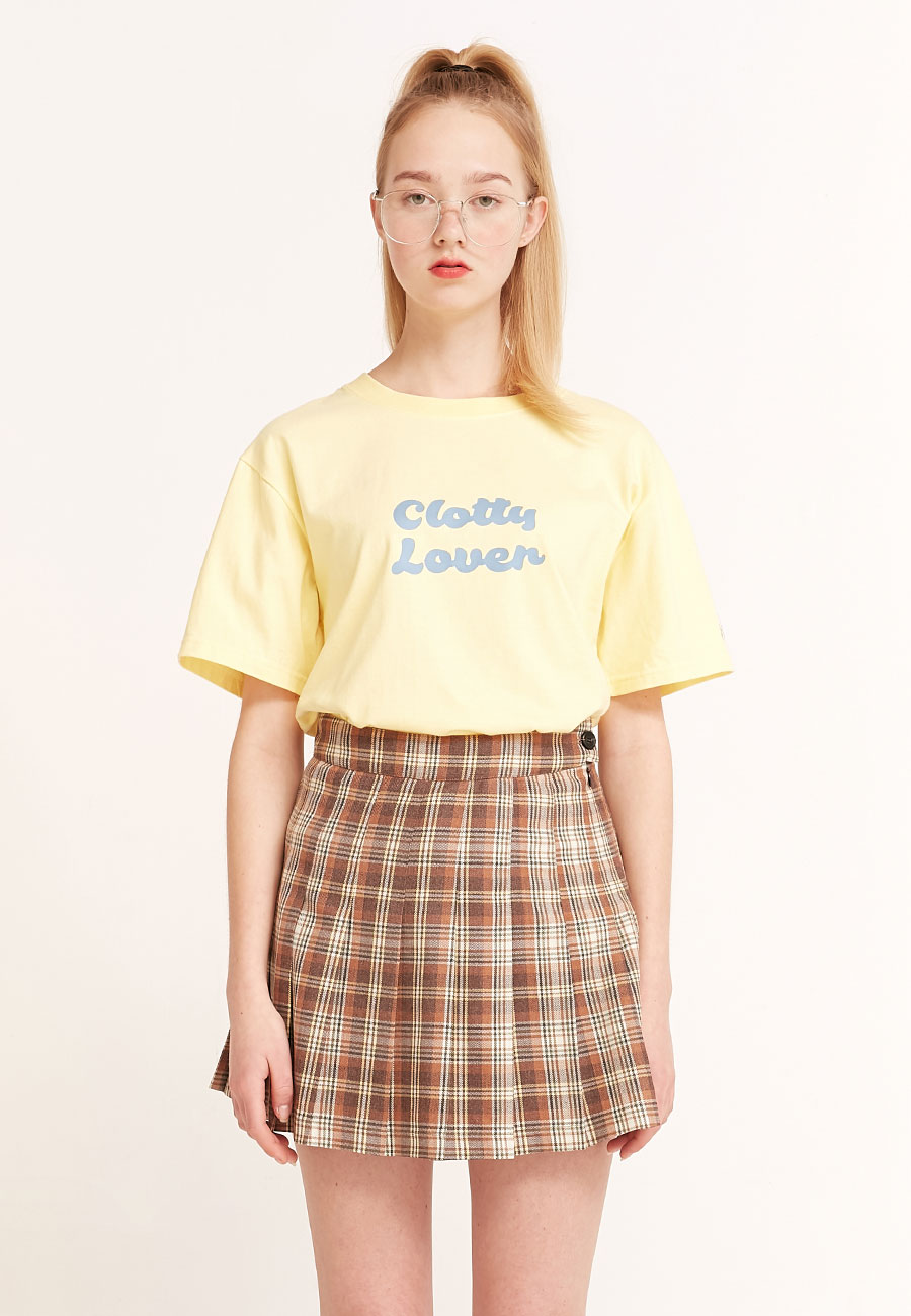 CLOTTYCLOVER T-SHIRT[YELLOW]