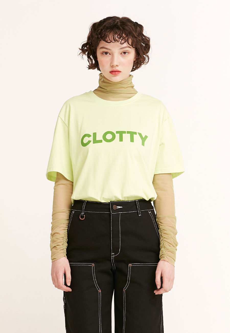 CLOTTYBIG LOGO T-SHIRT[GREEN]
