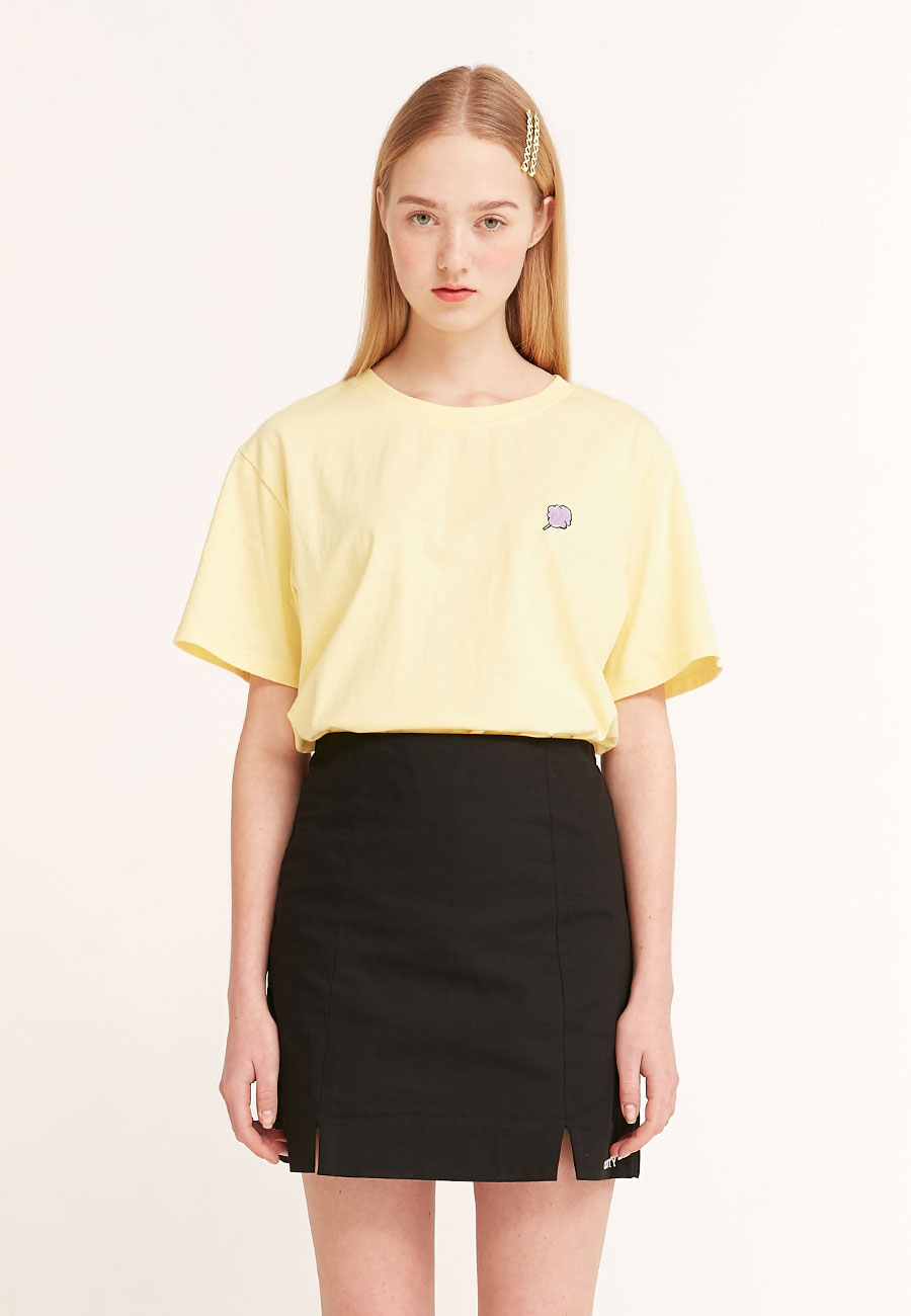 CLOTTYSMALL CC T-SHIRT[YELLOW]