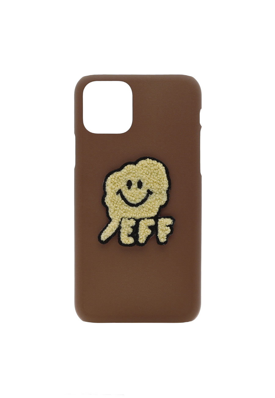 CLOTTYSMILE CC PHONE CASE[BROWN]