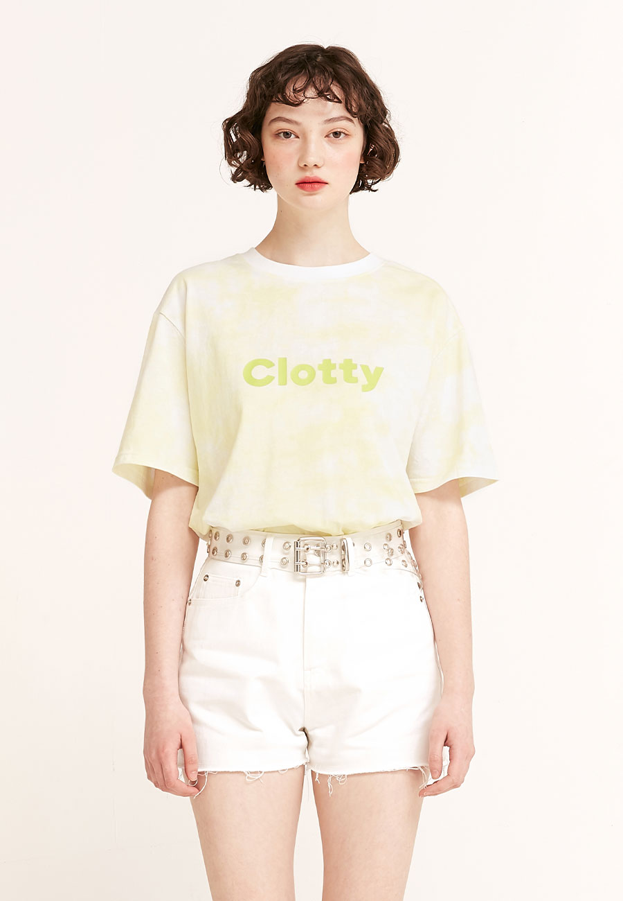 CLOTTYTIE DYE LOGO T-SHIRT[GREEN]