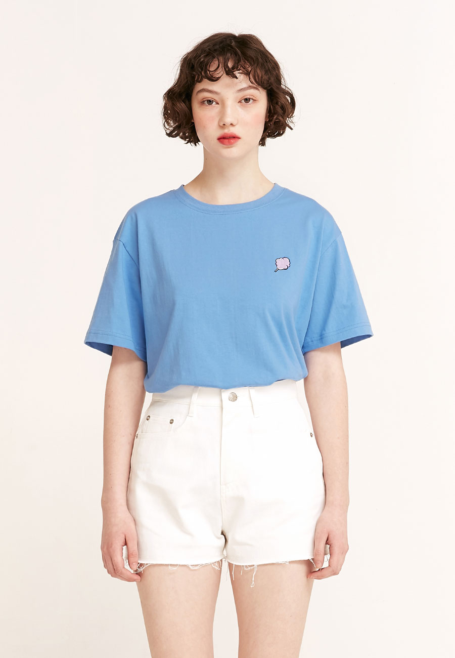 CLOTTYSMALL CC T-SHIRT[BLUE]