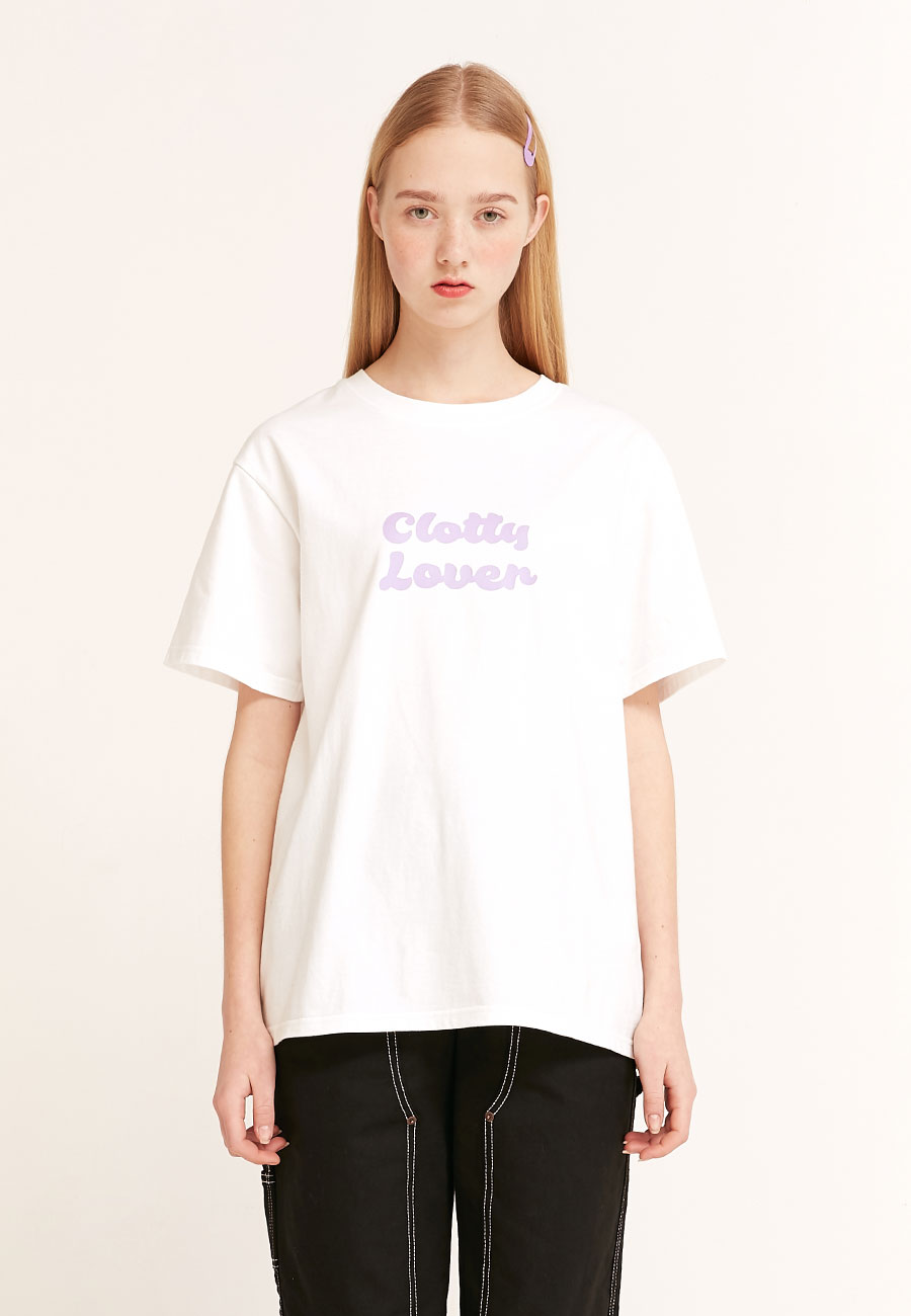 CLOTTYCLOVER T-SHIRT[WHITE]