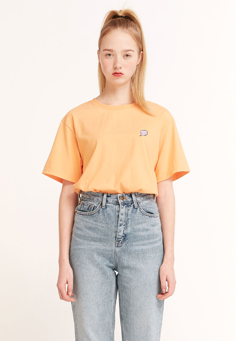 CLOTTYSMALL CC T-SHIRT[ORANGE]