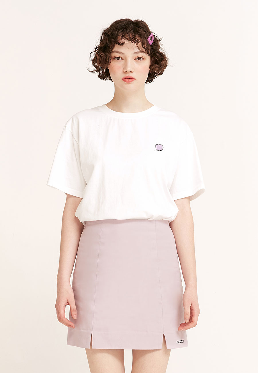 CLOTTYSMALL CC T-SHIRT[WHITE]