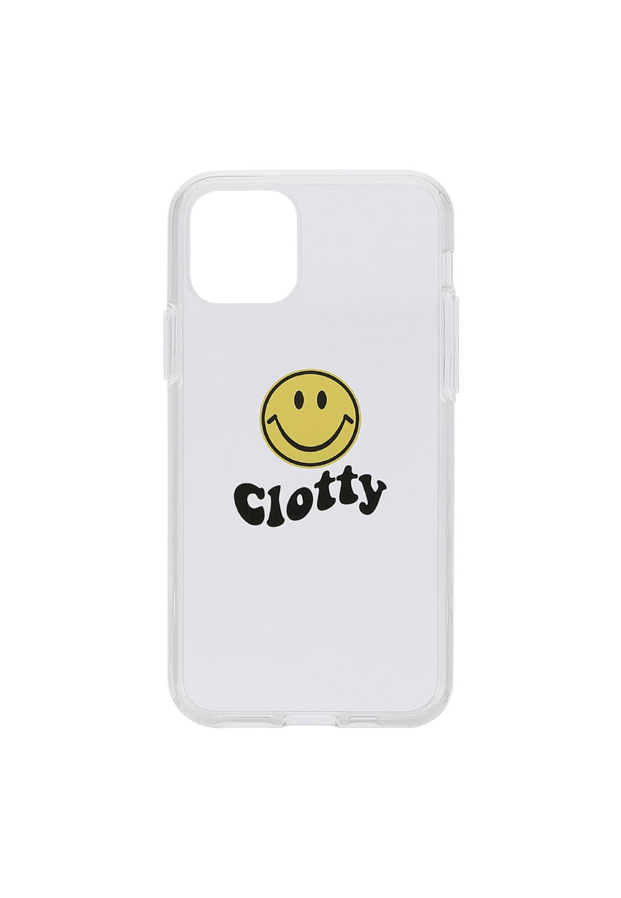 CLOTTYSMILE WAVE  HARD JELLY PHONE CASE[CLEAR]